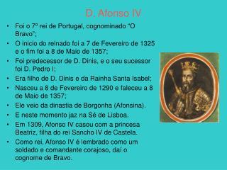 D. Afonso IV