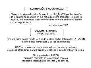 ILUSTRACIÒN Y MODERNIDAD