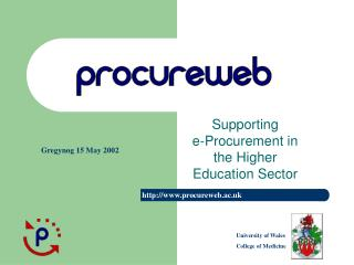 Supporting  e-Procurement in the Higher Education Sector