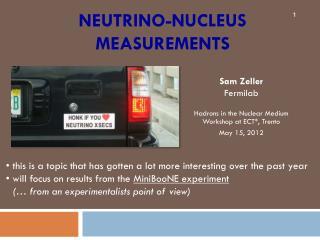 Neutrino-nucleus measurements