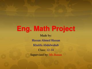 Eng. Math Project