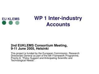 WP 1 Inter-industry Accounts