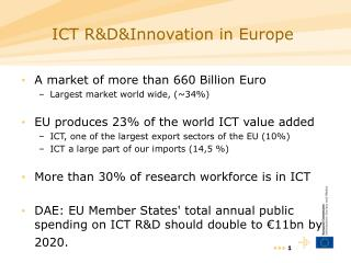 ICT R&D&Innovation  in Europe