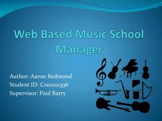 Web Based Music School Manager