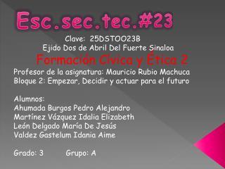 Esc.sec.tec.#23