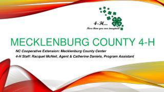 MECKLENBURG COUNTY 4-H