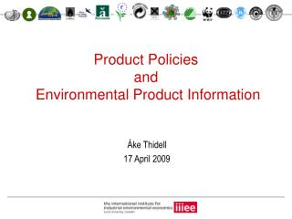 Product Policies  and  Environmental Product Information