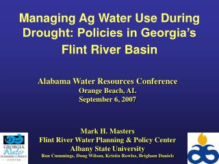Managing Ag Water Use During Drought: Policies in Georgia's Flint River Basin