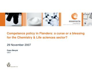 Competence policy in Flanders: a curse or a blessing for the Chemistry & Life sciences sector?