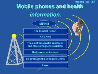 Mobile phones and health