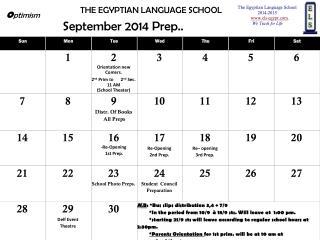 September 2014 Prep..