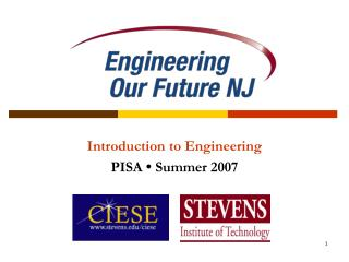 Introduction to Engineering  PISA  •  Summer 2007