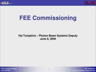 FEE Commissioning