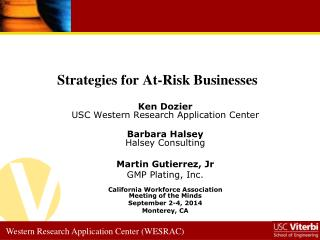 Strategies for At-Risk Businesses