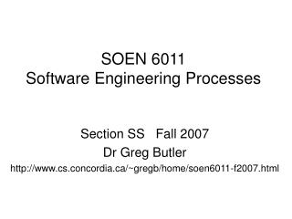 SOEN 6011 Software Engineering Processes