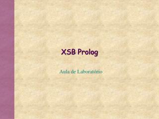 XSB Prolog