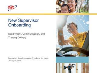 New Supervisor Onboarding