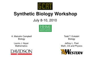 Synthetic Biology Workshop