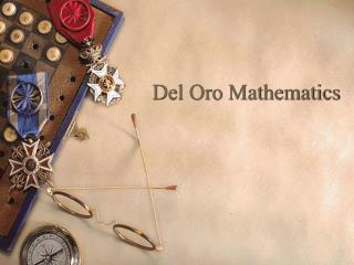 Del Oro Mathematics
