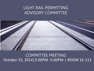 October 15, 2014|3:00PM -5:00PM | ROOM 1E-113