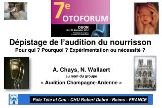 A. Chays, N. Wallaert au nom du groupe  « Audition Champagne-Ardenne »