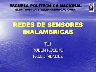 REDES DE SENSORES INALAMBRICAS