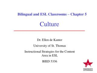 Bilingual and ESL Classrooms – Chapter 5