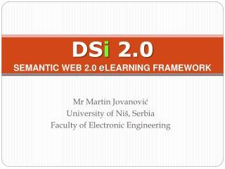 DS i 2.0 SEMANTIC  WEB  2.0  e LEARNING  FRAMEWORK