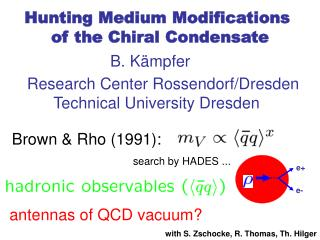 Hunting Medium Modifications      of the Chiral Condensate