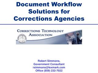 Document Workflow Solutions for Corrections Agencies
