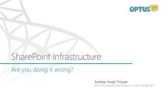 SharePoint Infrastructure