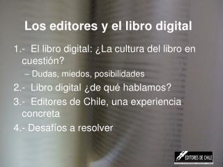 Los editores y el libro digital