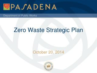 Zero Waste Strategic Plan