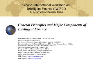 General Principles and Major Components of  Intelligent Finance