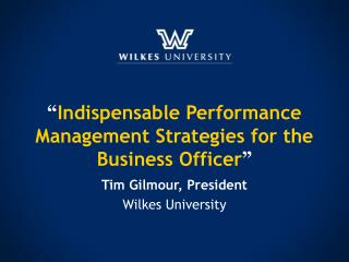 """ Indispensable Performance Management Strategies for the Business Officer """