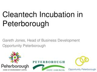 Cleantech Incubation in Peterborough