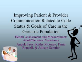 Health Assessment and Measurement: Adult/Geriatric Variations