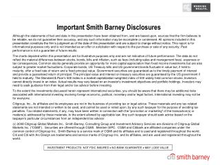 Important Smith Barney Disclosures