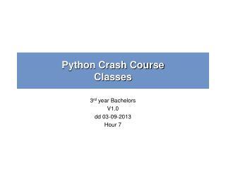 Python Crash Course Classes