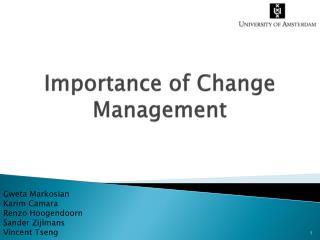Importance of Change Management