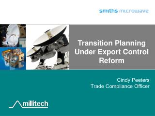Transition Planning Under Export Control Reform
