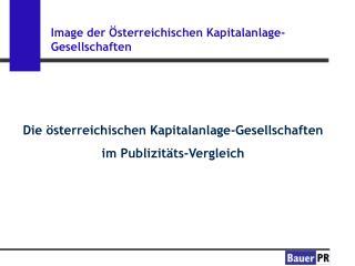 Image der Österreichischen Kapitalanlage-Gesellschaften
