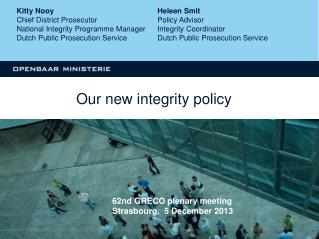Our new integrity policy