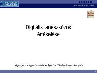 Digitális taneszközök értékelése