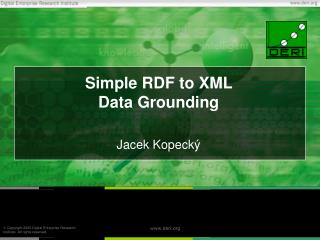 Simple RDF to XML  Data Grounding
