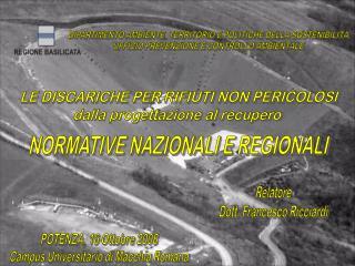 NORMATIVE NAZIONALI E REGIONALI