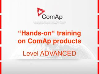 """Hands-on"" training                                  on ComAp products Level  ADVANCED"