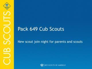 Pack 649 Cub Scouts
