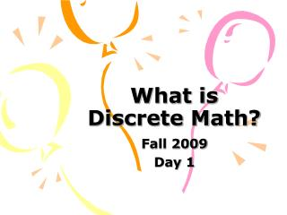 What is Discrete Math