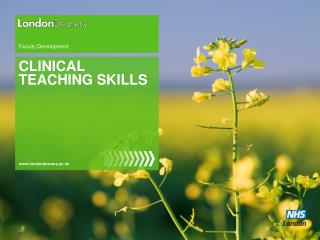 CLINICAL TEACHING SKILLS